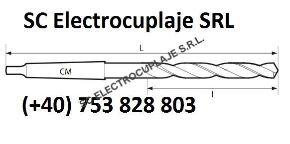 Burghie elicoidale scurte cu coada conica DIN 345 NT