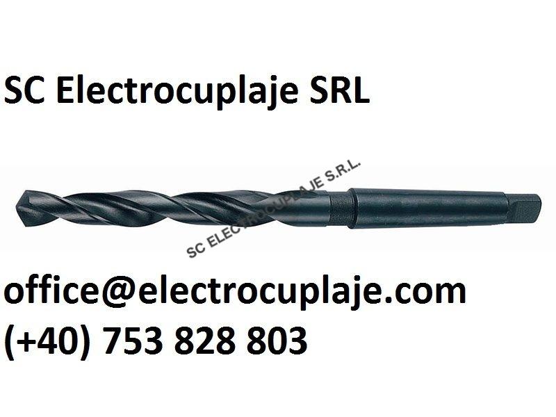 Burghiu elicoidal coada conica DIN 345 STAS 575